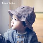 嬰兒漁夫帽春秋韓國寶寶帽子3-6-12個月1-3歲男女兒童帽子秋冬