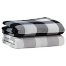 日式大格子水洗棉做舊復古全棉純棉床單被套面料布匹床上用品布料 【快速出貨】