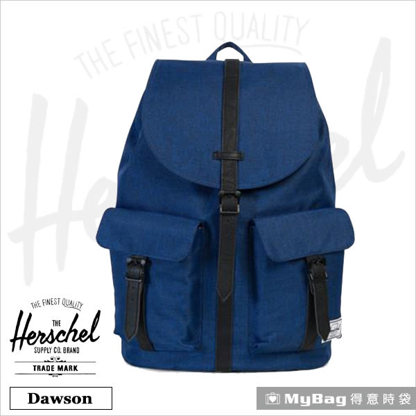 Herschel 後背包  單寧布藍  雙口袋15吋筆電後背包 Dawson-1335 MyBag得意時袋