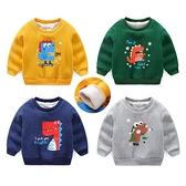 加絨保暖兒童長袖上衣 加厚棉質寶寶T恤 恐龍造型童裝 QY189 好娃娃