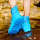鞋套 雨鞋 【鞋底雙層加厚】雨鞋套男女防水防滑防臟污中低筒水鞋一體成型 快速出貨