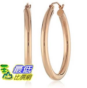 [美國直購] 14k Rose Gold 3mm Tube Hoop Earrings (.75 Diameter) 耳環