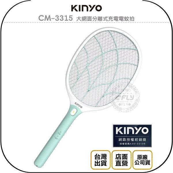 《飛翔無線3C》KINYO 耐嘉 CM-3315 大網面分離式充電電蚊拍◉公司貨◉夜間照明◉外接充電