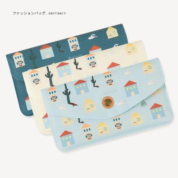 長夾-房子圖案錢包/手機包/手拿包-共3色-FuFu
