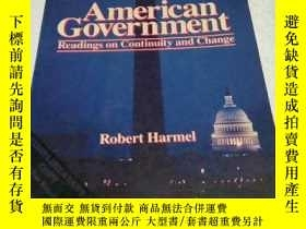 二手書博民逛書店American罕見Government Readings on
