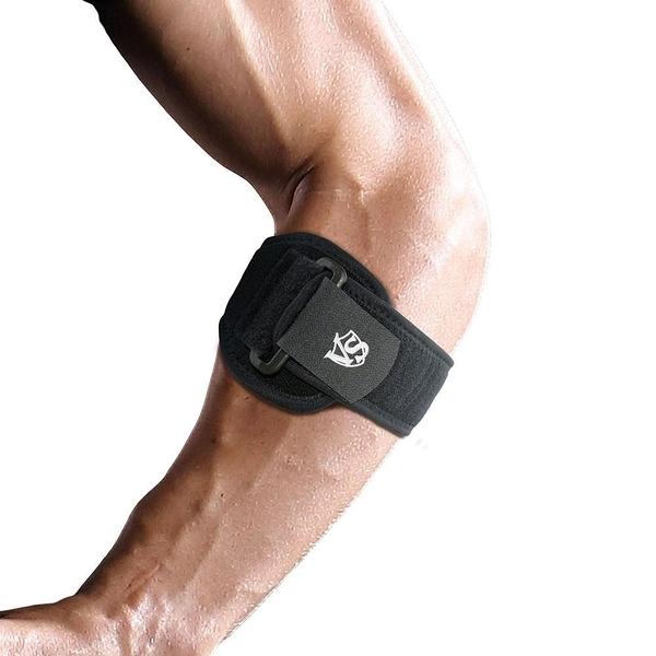 【南紡購物中心】【Vital Salveo 紗比優】可調式壓力軟墊鍺能量護 肘帶(單支入)(遠紅外線/台灣製造)