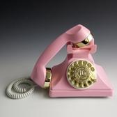 電話機 新品包郵歐式仿古復古老式轉盤式撥號酒店家用無線插卡座機電話機 美物居家 JD美物居家
