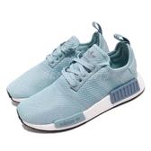 adidas NMD_R1 W 藍 白 女鞋 Boost 襪套式設計 運動鞋【PUMP306】 BD8030