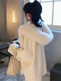 斗篷外套秋冬新款披肩狐貍大毛領羊毛雙面呢斗篷大衣女氣質毛呢外套冬 新年禮物
