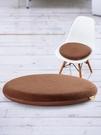 防滑記憶棉圓墊藤椅圓凳子圓形椅子坐墊辦公...