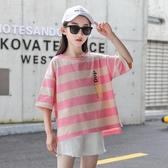 女童上衣 女童短袖t恤2020年夏季韓版潮女大童寬鬆夏裝7兒童1 交換禮物