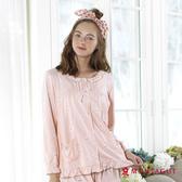 睡衣 夢特嬌 精梳棉粉色俏麗居家服 褲裝 成套睡衣