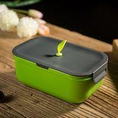 日式飯盒單層便當盒兒童分格餐盒微波爐保溫卡扣學生飯盒