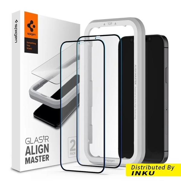 Spigen iPhone 12 Pro Max Align Master-玻璃保護貼 2入一組 黑色 蘋果 [現貨]