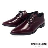 Tino Bellini義大利進口細緻質感牛皮綁帶皮鞋_酒紅 VI8502 歐洲進口