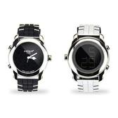 colore TWINS時尚豹紋數位指針錶M06白配黑