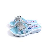 冰雪奇緣 Frozen Elsa Anna 涼鞋 拖鞋 水藍 蝴蝶結 中童 童鞋 FNKS04736 no721