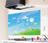 壁貼【橘果設計】防油貼 (加大) DIY組合壁貼 牆貼 壁紙 壁貼 室內設計 裝潢