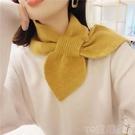 韓版針織毛線小圍巾女冬季脖套冬晚晚同款領巾護頸圍脖百搭裝飾潮 童趣屋 免運