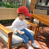 寶寶春裝字母嬰兒T恤1歲小女童白色打底衫