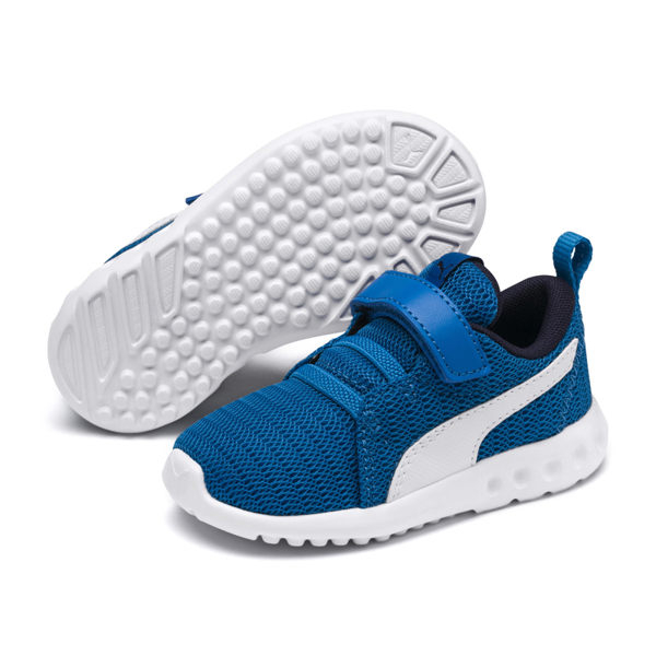 Puma Carson 童鞋 藍色 運動鞋 魔鬼氈 休閒鞋 童鞋 中童鞋 19056515