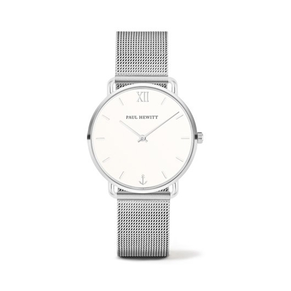 【Paul Hewitt】德國船錨海洋女神白鋼時髦腕錶-亮眼銀/PH-M-S-W-4S/台灣總代理公司貨享兩年保固