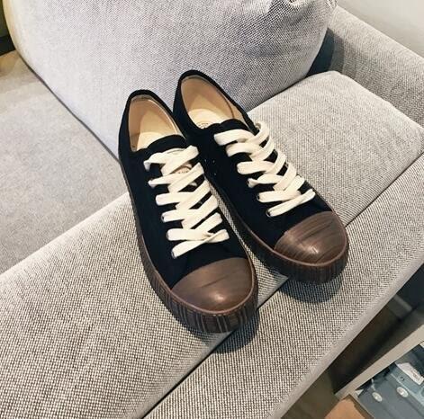時尚街頭潮流綁帶經典黑白色低幫帆布鞋 情侶鞋