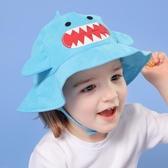 兒童帽子男童女童遮陽帽可愛太陽帽漁夫帽