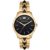MICHAEL KORS Runway 龐克風格個性手錶-黑X金/38mm MK6669