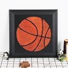 釘子畫籃球足球釘子繞線畫diy手工製作裝飾畫材料包訂製生日禮物YYJ 阿卡娜