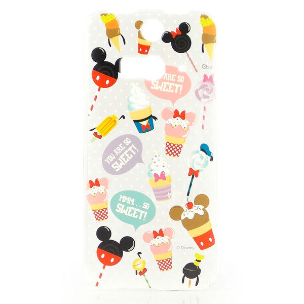 【Disney 】HTC Butterfly 2 彩繪透明保護殼-糖果冰淇淋