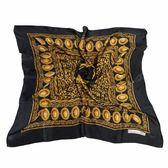 Christian Dior 多重鎖鏈圖樣緞面領帕巾(黑) 179012