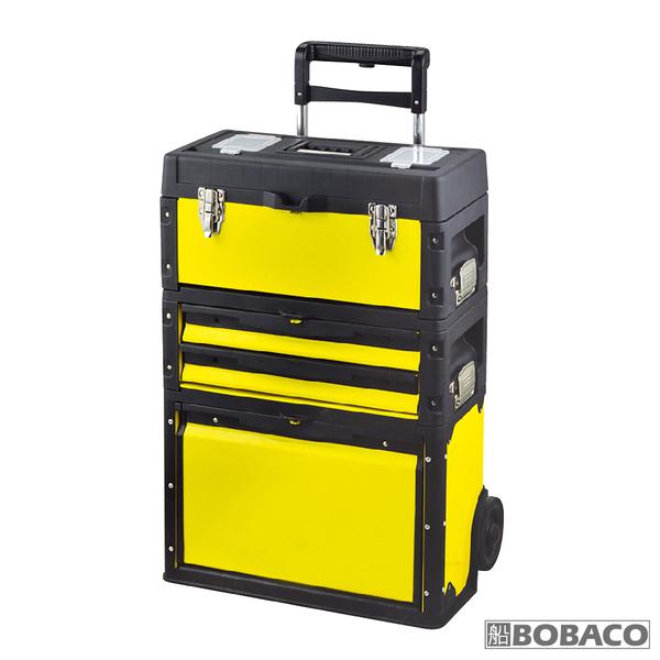 【三層組合工具車-黃款】工具箱手拉車 拉桿工具箱推車 工具收納箱 多功能三層组合式
