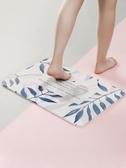 創意硅藻土吸水地墊 衛生間浴室防滑墊