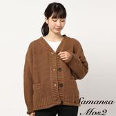 ❖ Winter ❖ 簡約寬鬆V領開襟針織罩衫 (提醒➯SM2僅單一尺寸) - Sm2