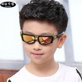 夏季新款兒童墨鏡大男童太陽鏡個性潮偏光舒適防紫外線男范思蓮恩