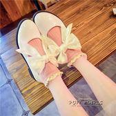 軟妹洛麗塔牛津底休閒娃娃鞋圓頭學生蝴蝶結女單鞋