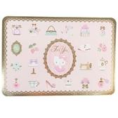 小禮堂 Hello Kitty 橫式燙金萬用卡片 祝賀卡 送禮卡 節慶卡 (粉 物品) 4711717-28521
