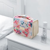 【韓版】禾風超質感新款加厚大容量懸掛式盥洗包-清新白