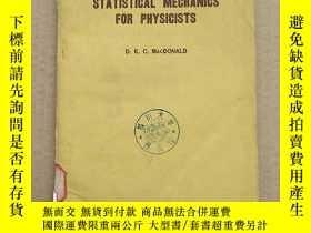 二手書博民逛書店introductory罕見statistical mechanics for physicists(P177)奇