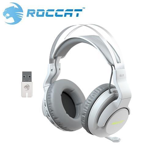 ROCCAT 冰豹 Elo 7.1 Air 無線環繞聲效 RGB 電競耳機-白