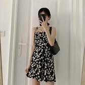 碎花裙 小雛菊碎花洋裝女夏2020年新款韓版復古收腰顯瘦中長款吊帶裙子