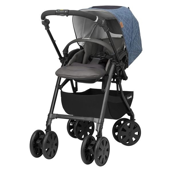 康貝Combi CrossGo霸氣大輪雙向嬰兒手推車(4972990151160米格藍) 16500元【贈蚊帳+皮革握把套-6/30止】
