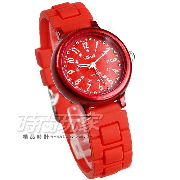 Lotus 時尚錶 日本機蕊 繽紛馬卡龍 數字時刻矽膠腕錶 數字錶 女錶 學生錶 TP2122L-06鮮紅
