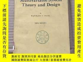二手書博民逛書店multivariable罕見system theory and design(P757)Y173412
