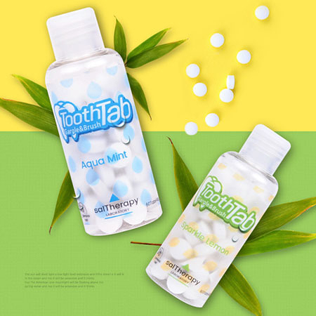韓國 saltherapy Tooth Tab 咀嚼式固體牙膏 60錠/42g 牙膏錠 牙膏 清潔牙齒 注意不能食用