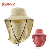 丹大戶外【Wildand】荒野 中性抗UV多功能遮陽帽 W1030 芥末黃/粉橘色