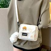 日繫側背包斜背小包包女小眾設計2021新款百搭學生ins帆布小挎包 伊蘿