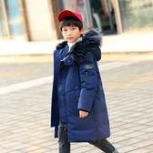 男童羽絨服 兒童大男童羽絨服中長款加厚男 童裝冬裝中大童男孩中童反季 快樂母嬰