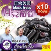 【愛上新鮮】正宗美國無籽月亮葡萄10盒(500g/盒)